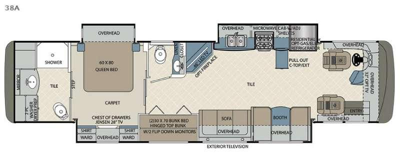 Floorplan - 2016 Forest River RV Berkshire 38A