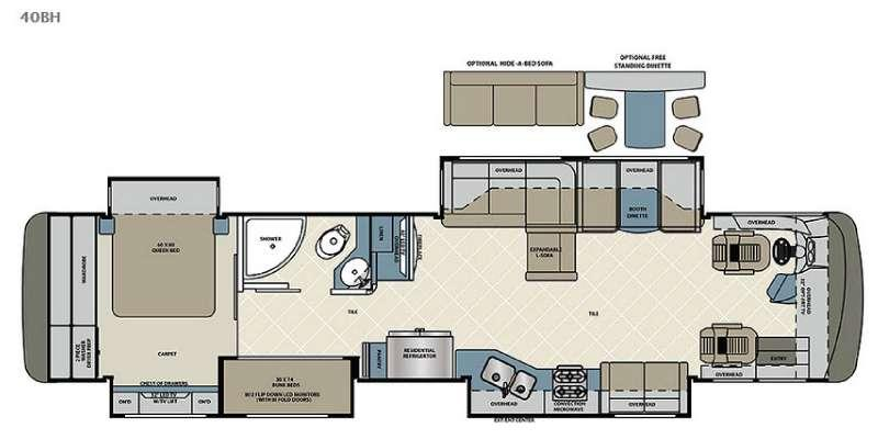Floorplan - 2016 Forest River RV Berkshire XL 40BH