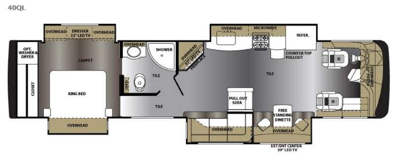 Floorplan - 2016 Forest River RV Berkshire XL 40QL