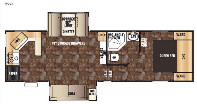 Floorplan - 2016 Forest River RV Cherokee 255P