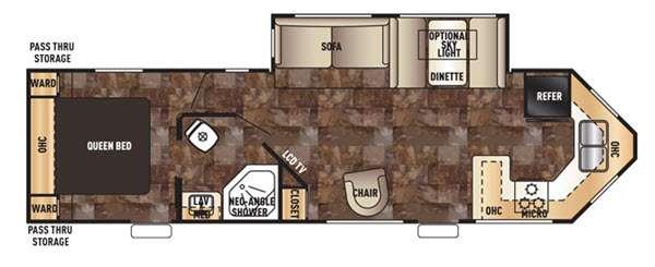 Floorplan - 2016 Forest River RV Cherokee 274VFK
