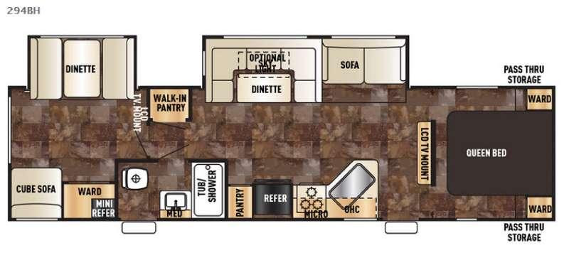 Floorplan - 2016 Forest River RV Cherokee 294BH