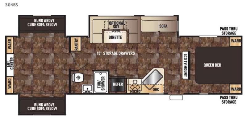 Floorplan - 2016 Forest River RV Cherokee 304BS