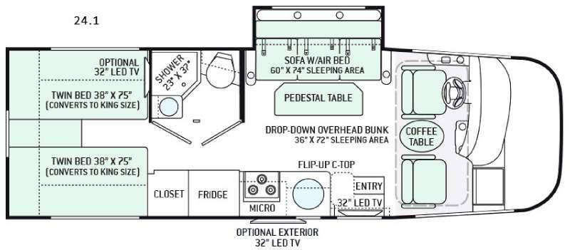 Floorplan - 2016 Thor Motor Coach Vegas 24.1