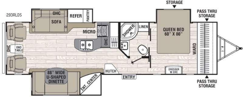 Floorplan - 2016 Coachmen RV Freedom Express Liberty Edition 293RLDS