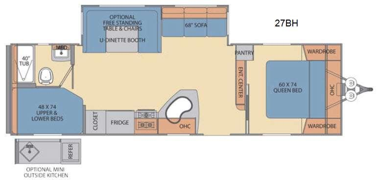 Floorplan - 2016 Shasta RVs Revere 27BH
