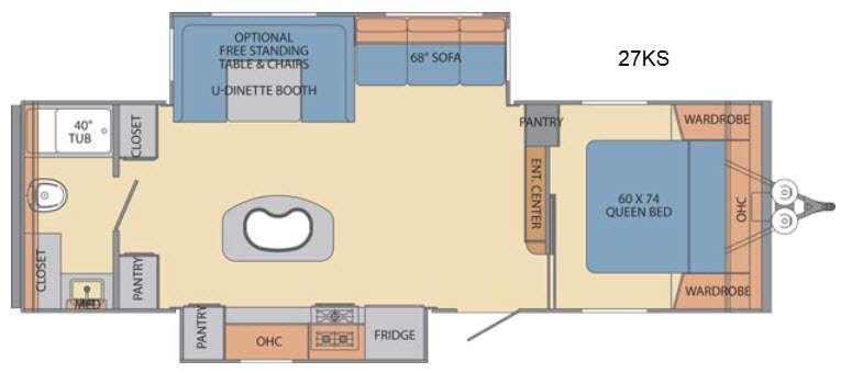 Floorplan - 2016 Shasta RVs Revere 27KS