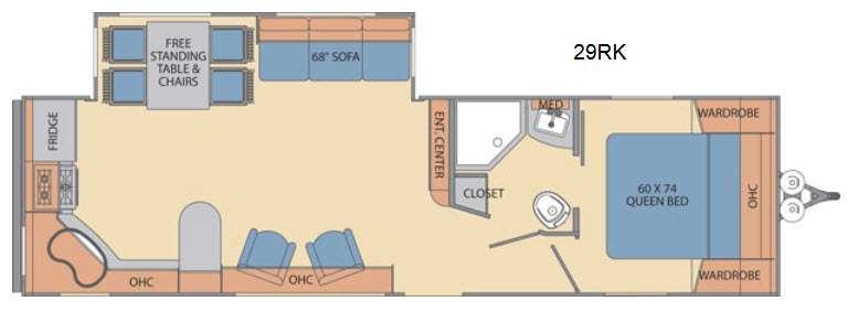 Floorplan - 2016 Shasta RVs Revere 29RK