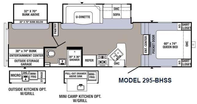 Floorplan - 2016 Palomino Puma 295-BHSS