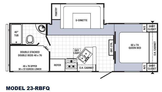 Floorplan - 2016 Palomino Puma 23-RBFQ
