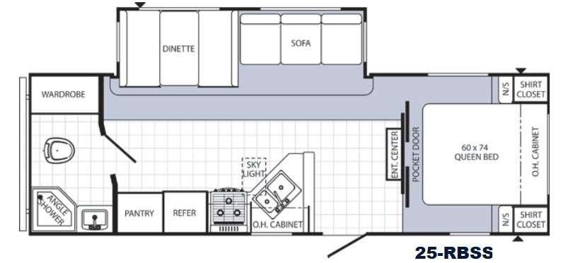 Floorplan - 2016 Palomino Puma 25-RBSS
