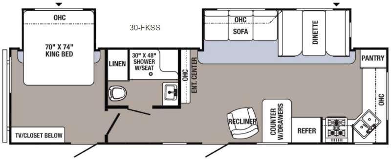 Floorplan - 2016 Palomino Puma 30-FKSS