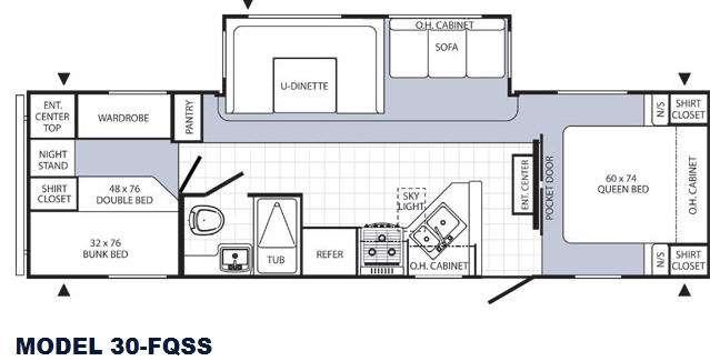 Floorplan - 2016 Palomino Puma 30-FQSS