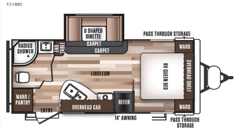 Wildwood 21RBS Floorplan Image