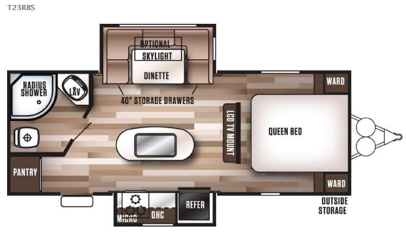 Wildwood 23RBS Floorplan Image