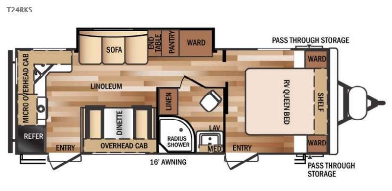 Wildwood 24RKS Floorplan Image