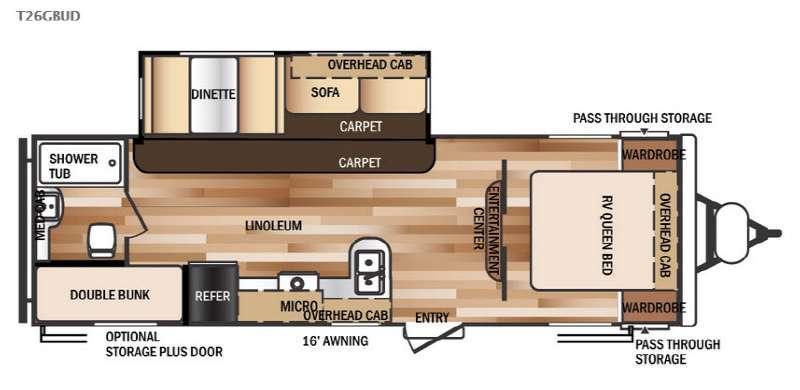 Wildwood 26GBUD Floorplan Image