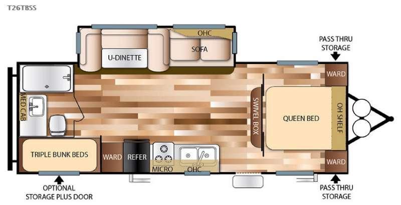 Floorplan - 2016 Forest River RV Wildwood 26TBSS
