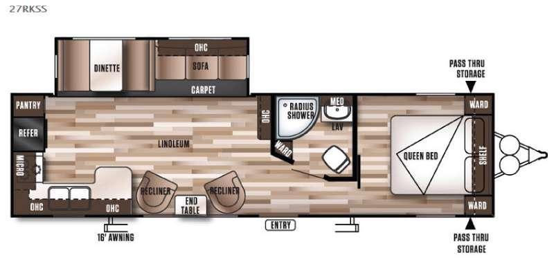 Floorplan - 2016 Forest River RV Wildwood 27RKSS