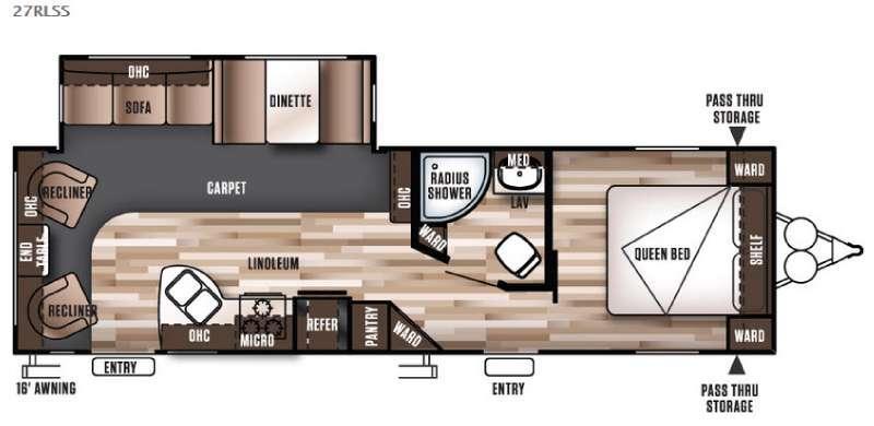 Floorplan - 2016 Forest River RV Wildwood 27RLSS