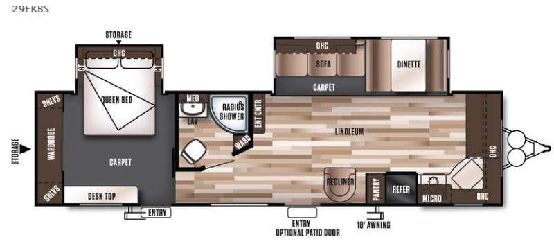Wildwood 29FKBS Floorplan Image