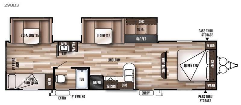 Floorplan - 2016 Forest River RV Wildwood 29UD3