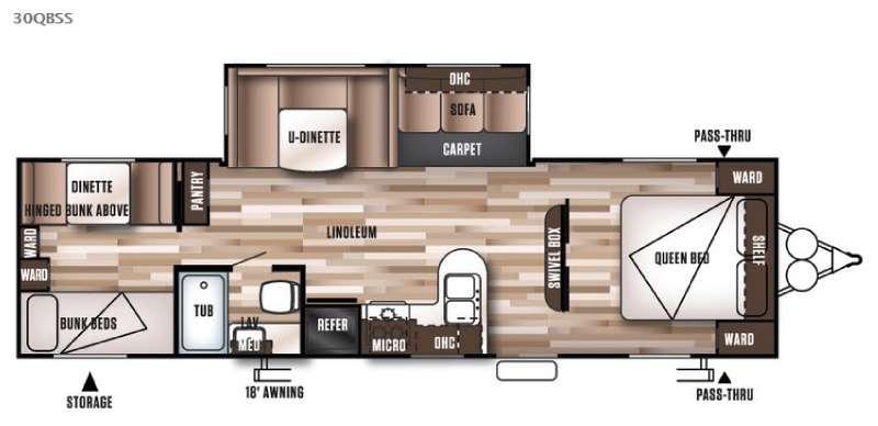 Wildwood 30QBSS Floorplan Image