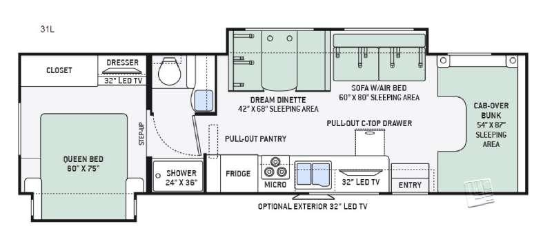 Four Winds 31L Floorplan Image