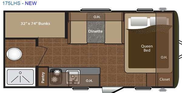 Floorplan - 2016 Keystone RV Hideout Single Axle 175LHS