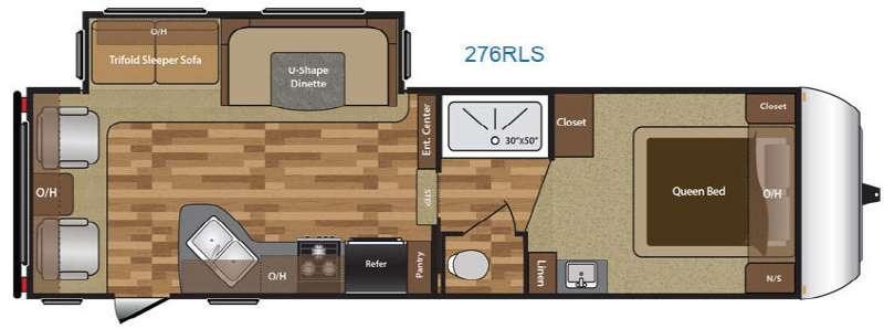 Floorplan - 2016 Keystone RV Hideout 276RLS