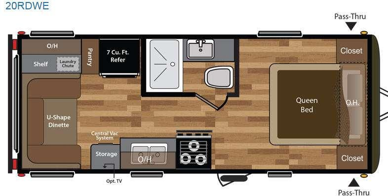 Floorplan - 2016 Keystone RV Hideout 20RDWE