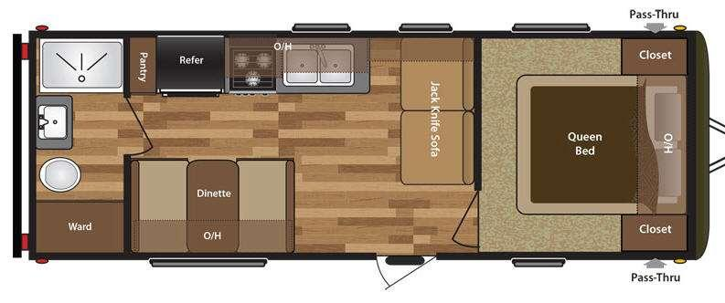 Hideout 230LHS Floorplan Image
