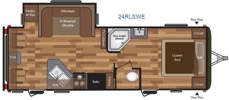 Floorplan - 2016 Keystone RV Hideout 24RLSWE