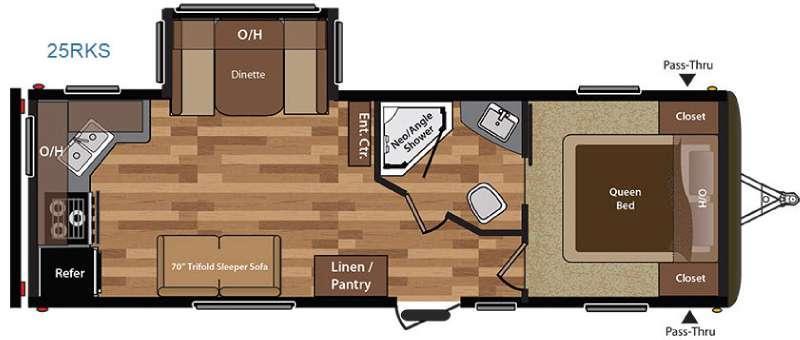 Floorplan - 2016 Keystone RV Hideout 25RKS