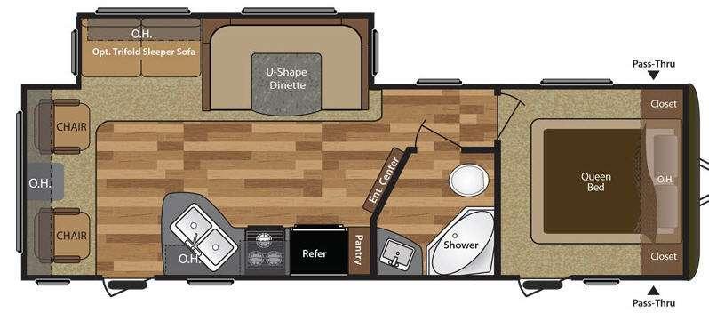 Hideout 26RLS Floorplan Image