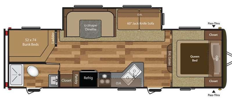 Hideout 280LHS Floorplan Image