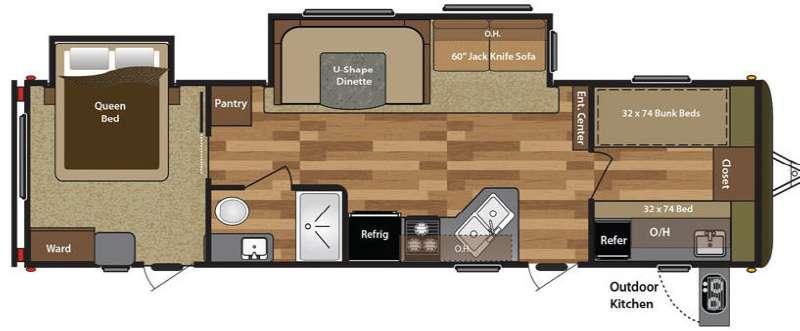 Floorplan - 2016 Keystone RV Hideout 300LHS