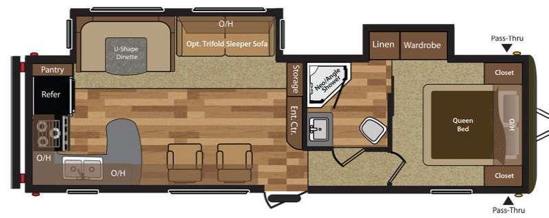 Hideout 30RKDS Floorplan Image