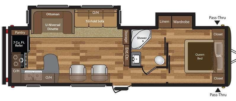 Floorplan - 2016 Keystone RV Hideout 30RKDSWE