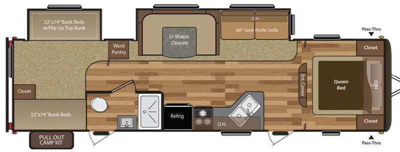 Hideout 310LHS Floorplan Image