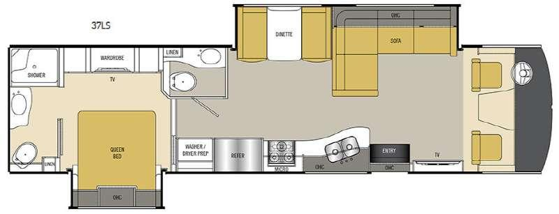 Floorplan - 2016 Coachmen RV Encounter 37LS