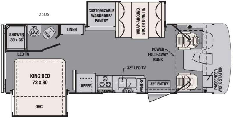 Floorplan - 2016 Forest River RV FR3 25DS