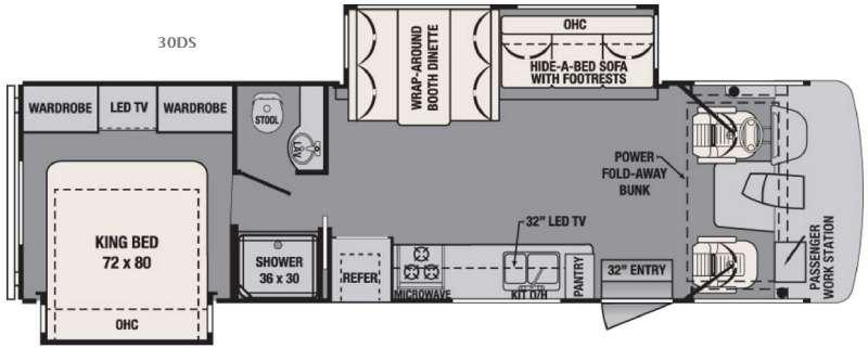 Floorplan - 2016 Forest River RV FR3 30DS