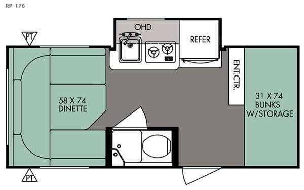 Floorplan - 2016 Forest River RV R Pod RP-176