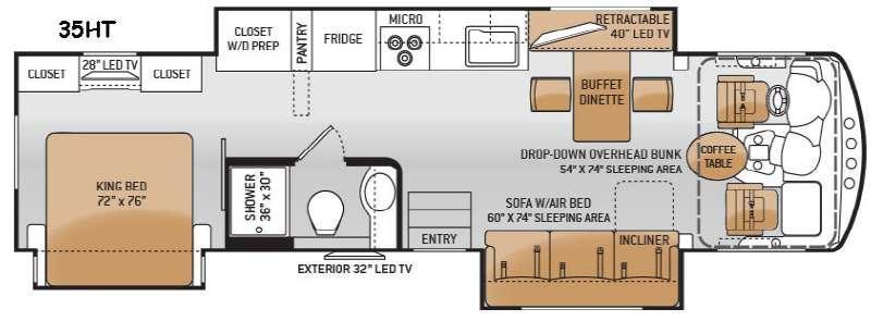 Challenger 35HT Floorplan Image