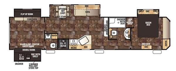 Floorplan - 2016 Forest River RV Cherokee Destination Trailers 39KR