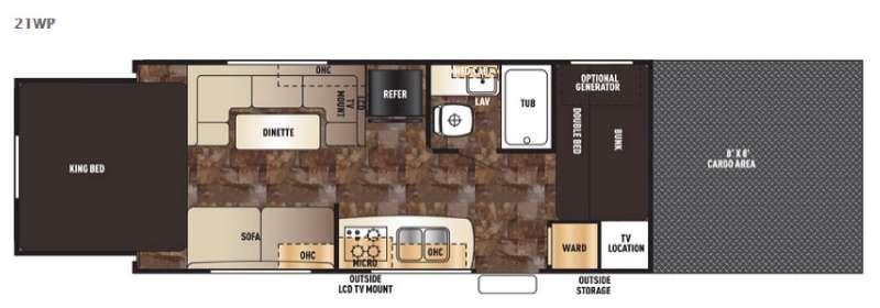 Cherokee Wolf Pack 21WP Floorplan Image