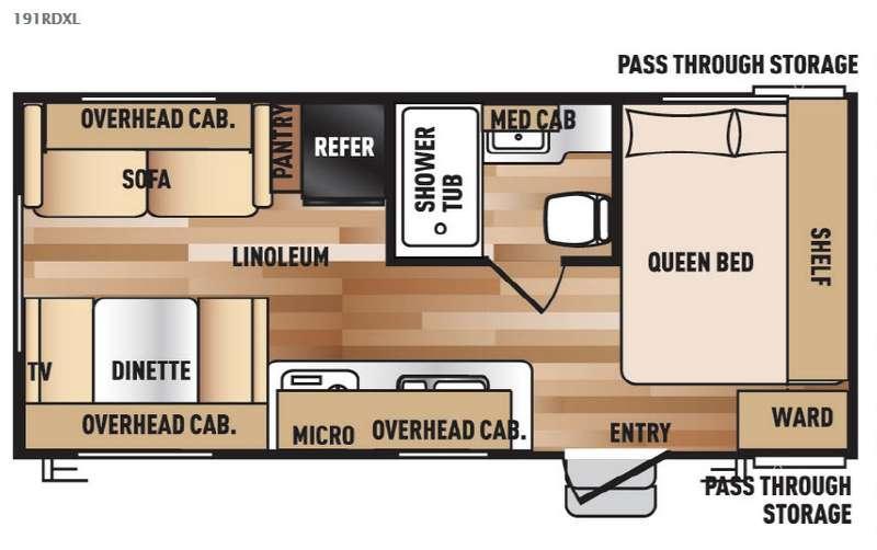 Wildwood X-Lite 191RDXL Floorplan Image