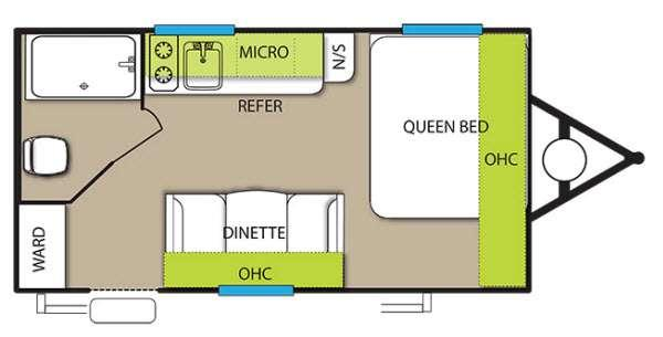 Wildwood X Lite FS 185RB Floorplan