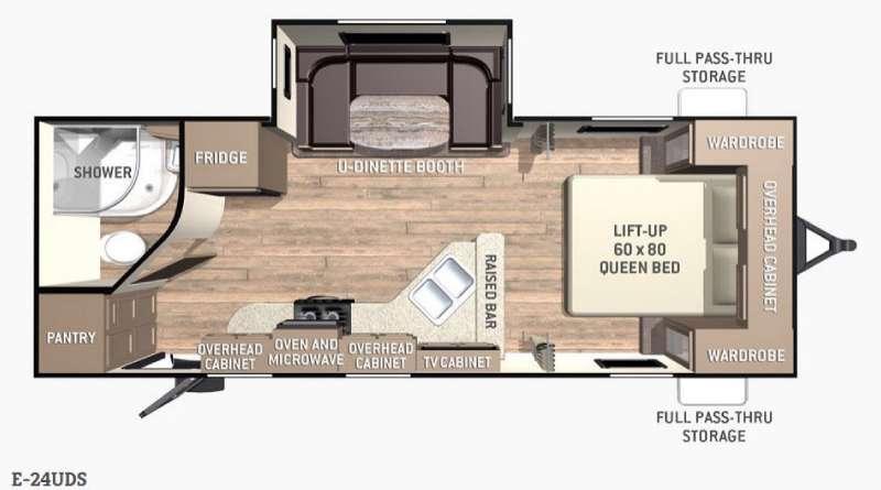 Floorplan - 2015 Cruiser Enterra E-24UDS